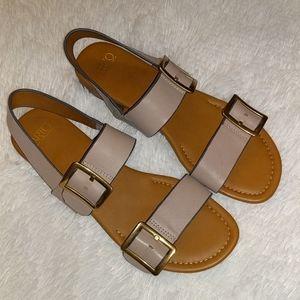 Franco Sarto Leather Gannon Sandals Slingbacks 10